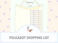 Polkadot Shopping List | www.sweetestchelle.com More Cute, Printable Planner, Cute Pictures, How To Draw Hands, Polka Dots, Blog, Shopping, Organisation, Cute Pics
