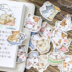 45pcs//set Colorful Mood Japanese Stationery Stickers for DIY Scrapbooking Diary.