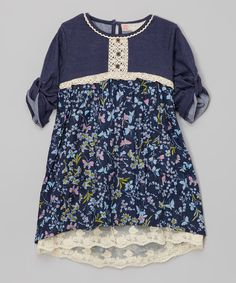 Loving this Free Planet Paradise Lace Hi-Low Dress - Girls on Hi Low Dresses, Girls Dresses, Toddler Girl Outfits, Kids Outfits, Katies Fashion, Free Planet, Anna Dress, Sewing Clothes, Girly Girl