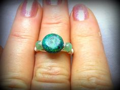 Sterling Silver Gemstone Ring  Chrysocolla  by HickorySpringsBling, $15.00