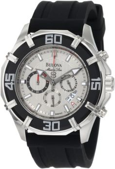 Bulova Men's 96B152 Solano Marine Star Rubber Strap Watch * Click image to review more details.