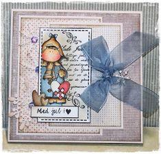 Igjen ett julekort, og nå med en av mine kjære hÄnglar stempler ♥ ************* Again a Christmas card, and this time with one of...