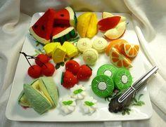 Felt fruit assortment idea.