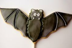 Cute Bat Cookies~                           By The Barefoot Baker, black