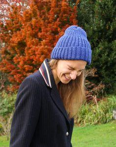 Guy Beanie (Unisex Hat Knitting Pattern) Crochet Stitches For Blankets, Knitted Blankets, Knitting Stitches, Knitting Socks, Knitted Hats, Knit Mittens, Crochet Beanie, Knit Hat Pattern Easy, Easy Crochet Patterns
