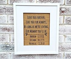 Love you forever sign, mothers day gifts from daughter, personalized gifts for women #mothersdaygiftideas