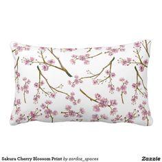 Sakura Cherry Blossom Print Pillow #sakura #cherryblossom #cherryblossoms #pattern #spring #summer #blossom  #pillow #throwpillow #home