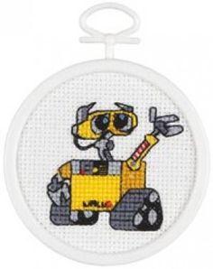 Wall-E Mini Stitch Kit by Janlynn