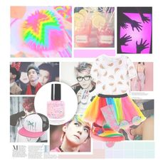 """colorfull time kpop"" by regitaputrimeliyanti on Polyvore featuring Chicnova Fashion, HUF, Valentino, ASOS and Volcom"