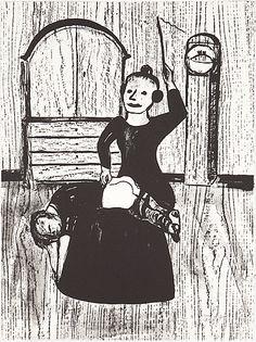 "Lena Cronqvist: Ur ""Ett Drömspel"", litografi, 73x53 cm, edition 91/170 - Bukowskis Market 12/2015"