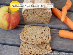 glutenfreies Brot, gesundes Brot, gesundes glutenfreies Brot, Brot mit Apfel, Brot mit Karotten, Brot mit Äpfeln, saftiges glutenfreies Brot