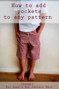 How to add pockets to any pants (or skirts) pattern
