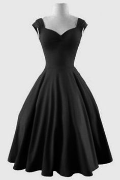 Retro Sweetheart Neck Solid Color Sleeveless Dress For Women Vintage Dresses | RoseGal.com Mobile
