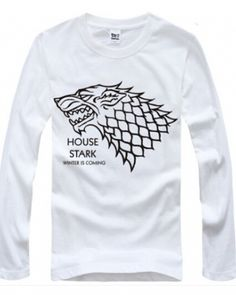 Long sleeve t shirt Game of Thrones Season 5 House Stark t shirts for men- Wolf T Shirt, House Stark, Cool Patterns, Cool Style, Plus Size, Seasons, Game, Sweatshirts, Long Sleeve