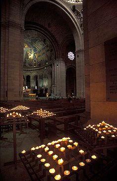 Interior of Sacré-Coeur de Montmartre, Paris.