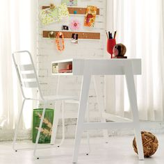 Prairie School Desk (High-gloss White) | The Land of Nod