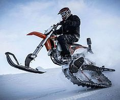 Dirt Bike Snow Kit . Keep your dirt bike active year round by converting it with this innovative snow kit when conditions get ic...
