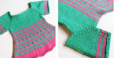 Make This Stripy Knitted Kiddie Dress For Your Sweetheart Baby Knitting Free, Free Baby Patterns, Baby Knits, Exercise For Kids, Love Craft, Free Baby Stuff, Dress For You, Knit Dress, Knitting Patterns