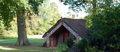 The only Maori meeting house in the UK, Hinemihi has spent over a century at Clandon Park, a National Trust property in Surrey Clandon Park, Surrey, New Zealand, New Homes, Cabin, House Styles, School Life, Home Decor, Maori