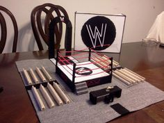 WWE Wrestling Arena with Storage Cover Pattern by MySpecialCrafts, $9.99