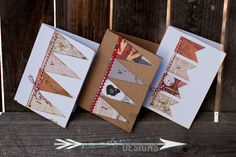 Jessica Elyse Designs: LOVE Banner Cards in White and Brown, Valentine's Cards by Jessica Elyse Designs http://jessicaelysedesigns.blogspot.com/