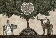 ☽Dryad☾ of the tangled forest • celtic lore