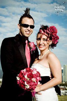Punk rock wedding invitations | fabulous punk-rock Hawaiian wedding? Well, I found the bride's wedding ...