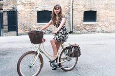 Gorgeous Dottie on her bike in Chicago.