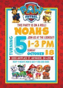 Invitaciones Paw Patrol De Nino 3