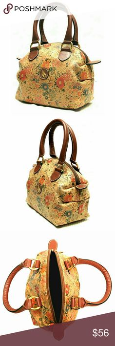 """NEWBETTINA MADE IN ITALY SMALL BAG NEW BETTINA MADE IN ITALY SMALL LEATHER BAG  THIS IS GORGEOUS    Slightly Pebbled Hand Made in Italy w/Flowered Design on Bag    Dome Shaped w/Zippered Top, Lined Signature Lining & Zippered Pouch Interior  APPROXIMATE  Meas;   (Pls See Last Pics)    L   9""""    H   6 1/2""""    W   5""""    Strap Drop   4"""" This is a Small Bag / Color May Not be Exact due to Lighting / Meas. Are Approximate.  BEAUTIFULBEAUTIFUL  BEAUTIFUL  BETTINA Bags Mini Bags"""