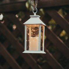"""14"""" Tall Candle Lantern with 6 Hours Timer.30 LEDS Copper Wire String Light (3 AAA Batteries Included) Hanging Light For Indoor&Outdoor Using-Decorative candle lanterns"""