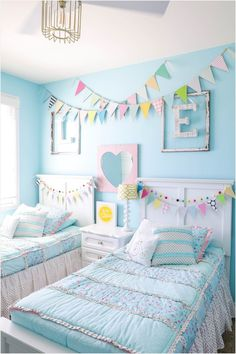 45 Stunning Girls Bedroom Makeover Ideas 73 Decorating Ideas for Kids Rooms 7