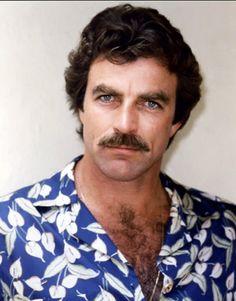 Tom Selleck blue shirt suits you hun!
