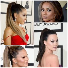 Trendy Celebrity Ponytail Hairstyles at Grammy Awards 2016