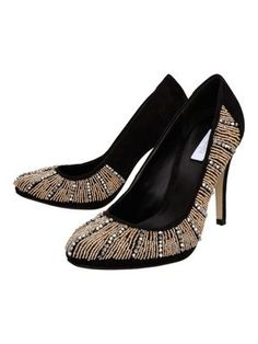 Untold Bonito Beaded Almond Toe Court Shoes Black - House of Fraser