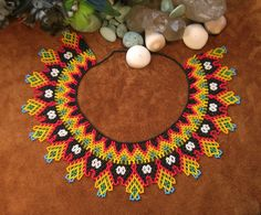 Beautiful Hand Beaded Colombian necklace 4 por TlalliCreation
