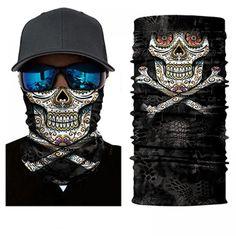 Protect yourself from the elements with the Skull and Crossbones Face Shield from Bushpro Outdoors. Skull Face Mask, Face Masks, Joker Clown, Motorcycle Face Mask, Cycling Mask, Half Face Mask, Balaclava, Skull And Crossbones, Ski And Snowboard