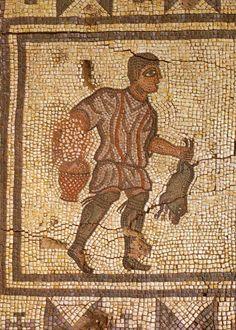 Roman Mosaic. Hunter. Conimbriga, Portugal.