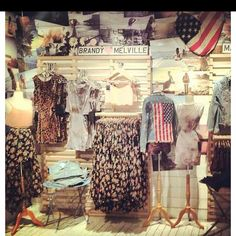 Brandy Melville is my favorite store as far as visuals go. They always make their clothes look appealing and it never looks too cheap or too expensive. The store always knows how to capture attention.
