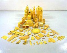 Tony Cragg's Drawings 03 Sculpture Art, Sculptures, Yellow Artwork, Identity Art, Recycled Art, Everyday Objects, Mellow Yellow, Art Plastique, Installation Art