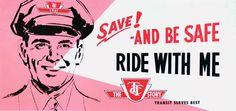 Vintage TTC promotional poster