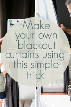 Super Easy DIY Blackout Curtains 2019 You can make any curtains blackout curtains simply using this little trick! So cheap and you can customize them however you want! The post Super Easy DIY Blackout Curtains 2019 appeared first on Curtains Diy. Diy Blackout Curtains, No Sew Curtains, Cheap Curtains, Drop Cloth Curtains, Blackout Blinds, Kids Curtains, How To Make Curtains, Black Out Curtains Diy, Blackout Shades