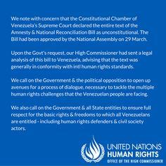 @DrodriguezVen : Alto Comisionado DDHH @UNHumanRights ha cometido el peor error en el ejercicio d sus funciones avalando Ley de amnesia criminal en Venezuela