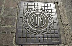 Stipel - Italian Telephone company manhole cover Milan #typography #type  via @tomjohn001