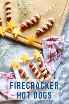 Put a twist on a classic of July recipe for the perfect addition to your BBQ spread! Fourth Of July Food, 4th Of July, Baked Hot Dogs, Dog Recipes, Recipies, Family Recipes, Firecracker, School Snacks, Calories