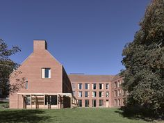 Image 5 of 27 from gallery of Dancy House, Marlborough College / Allies and Morrison. Photograph by Nick Guttridge Weymouth Fc, Marlborough College, Boarding House, Ground Floor Plan, Building Exterior, Brick And Stone, Common Area, Amazing Architecture, Facade