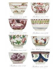 English Georgian Tea Bowls 1760- 1830  Originally the cups were without handles and called tea bowls. Engravings of the time show ladies and gentlemen drinking tea from tea bowls held daintily between thumb and forefinger. It is thought that often the tea was drunk from the deep saucers which accompany these early tea bowls. Tea was very expensive at this time.