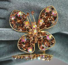 Vintage Brooch Butterfly
