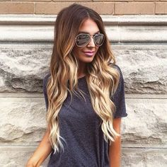 "Hair #goals set by @holliewdwrd in her @guy_tang 220g 22"" #8/#60 #BELLAMIAshBrownAshBlonde #BELLAMIBalayage @bell"