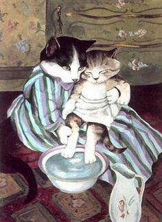 """The Child's Bath (Mary Cassatt)"" par Susan Herbert"